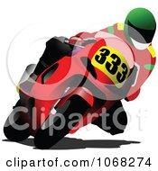 Biker On A Motorcycle 1