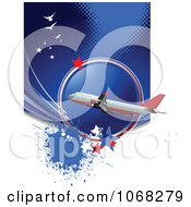 Clipart Airbus Background 1 Royalty Free Vector Illustration