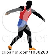 Clipart Discus Thrower Royalty Free Vector Illustration