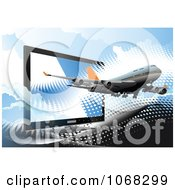 Clipart Airbus Background 5 Royalty Free Vector Illustration