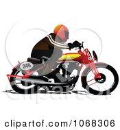 Biker On A Motorcycle 2