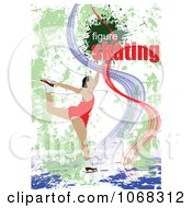 Clipart Figure Skater Background 2 Royalty Free Vector Illustration by leonid