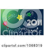 Clipart 2011 New Year Background 3 Royalty Free Vector Illustration