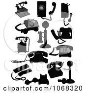 Clipart Landline Phones Royalty Free Vector Illustration