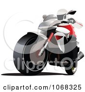 Clipart Biker On A Motorcycle 7 Royalty Free Vector Illustration