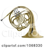 Clipart Brass French Horn Royalty Free Vector Illustration