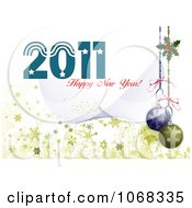 Clipart 2011 New Year Background 6 Royalty Free Vector Illustration