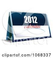Clipart Upright 2012 Desk Calendar Royalty Free Vector Illustration