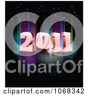 Clipart 2011 New Year Background 1 Royalty Free Vector Illustration