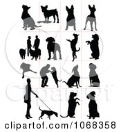 Clipart Dog Silhouettes 2 Royalty Free Vector Illustration