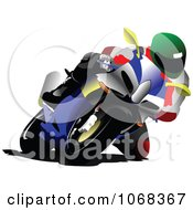Clipart Biker On A Motorcycle 3