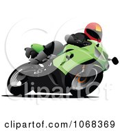 Clipart Biker On A Motorcycle 4