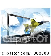 Clipart Air Force Jet And Computer Screen 1 Royalty Free Vector Illustration