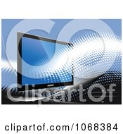 Clipart Computer Monitor Background 2 Royalty Free Vector Illustration