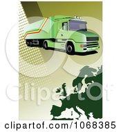 Clipart Big Rig Logistics Background 4 by leonid
