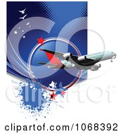 Clipart Airbus Background 3 Royalty Free Vector Illustration