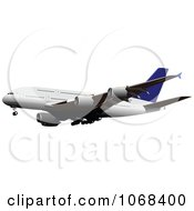 Clipart Airbus 4 Royalty Free Vector Illustration