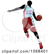 Clipart Basketball Player 1 Royalty Free Vector Illustration