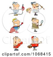 Clipart Men Royalty Free Vector Illustration by Hit Toon