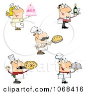 Clipart Bakers And Chefs Royalty Free Vector Illustration