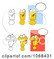Clipart Question Marks And Exclamation Points Royalty Free Vector Illustration