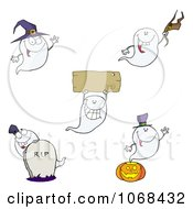 Clipart Halloween Ghosts Royalty Free Vector Illustration