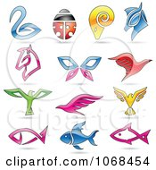 Clipart Animal Logo Icons 4 Royalty Free Vector Illustration