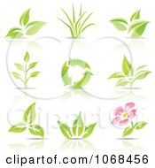 Clipart Eco Logo Icons Royalty Free Vector Illustration by cidepix