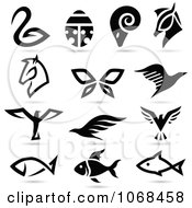 Clipart Animal Logo Icons 3 Royalty Free Vector Illustration by cidepix #COLLC1068458-0145