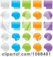 Colorful Sticker Design Elements