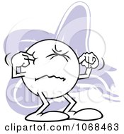 Clipart Moodie Character Plugging His Ears Royalty Free Vector Illustration
