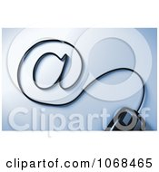 Clipart 3d Computer Mouse Cable Forming An At Symbol Royalty Free CGI Illustration by stockillustrations
