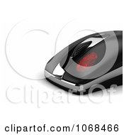 Clipart Red Fingerprint On A 3d Computer Mouse Royalty Free CGI Illustration by stockillustrations