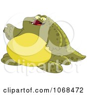 Clipart Chubby Green Monster Royalty Free Vector Illustration by yayayoyo