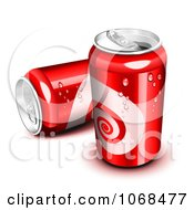Clipart Two Red 3d Soda Cans Royalty Free Vector Illustration by Oligo