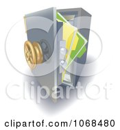 Clipart 3d Files In A Safe Vault Royalty Free Vector Illustration