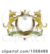 Clipart Alsatian Coat Of Arms Shield With A Collar Royalty Free Vector Illustration by AtStockIllustration