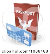 Clipart 3d Passport Book And Credit Card Royalty Free Vector Illustration by AtStockIllustration
