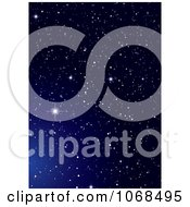 Clipart Blue Starry Night Background 2 Royalty Free Vector Illustration by michaeltravers