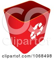 Clipart 3d Red Recycle Bin Royalty Free Vector Illustration