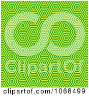 Clipart Seamless Green Retro Pattern Royalty Free Vector Illustration
