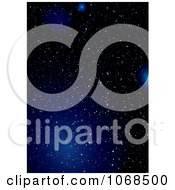 Clipart Blue Starry Night Background 3 Royalty Free Vector Illustration by michaeltravers