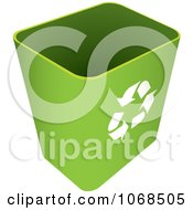 Clipart 3d Green Recycle Bin Royalty Free Vector Illustration