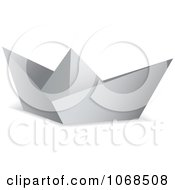 Clipart 3d White Origami Paper Boat Royalty Free Vector Illustration by michaeltravers