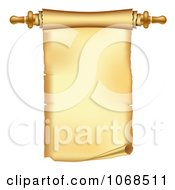 Clipart 3d Paper Scroll With Handle Royalty Free Vector Illustration