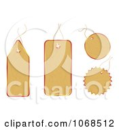 Clipart 3d Wooden Sales Tags Royalty Free Vector Illustration