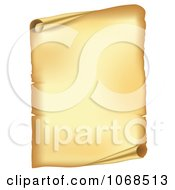 Clipart 3d Open Paper Scroll Royalty Free Vector Illustration by vectorace