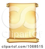 Clipart 3d Unrolled Paper Scroll Royalty Free Vector Illustration
