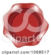 Clipart Red Wax Label Royalty Free Vector Illustration by vectorace
