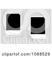 Clipart Two Blank Photographs Royalty Free Vector Illustration
